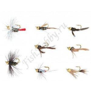 Набор мушек Balzer trout  GOLD HEAD NYMPHS 8 шт