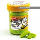 Паста форелевая Berkley Powerbait Natural Scent Glitter Trout Bait Garlic Chartreuse