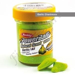 Паста форелевая Berkley Powerbait Natural Scent Glitter Trout Bait Garlic Chartreuse