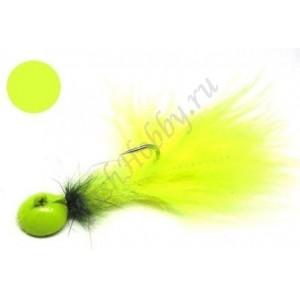 Мормышка форелевая с мушкой Chartreuse