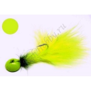 Мормышка форелевая с мушкой green