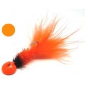 Мормышка форелевая с мушкой Fluo Orange
