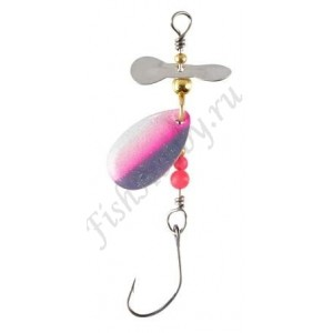 Блесна Balzer Trout Attack Prop Spin Black Pink White