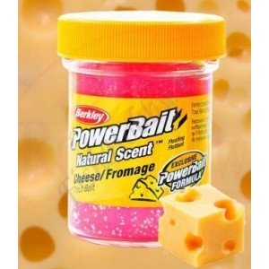 Форелевая паста Berkley Powerbait Natural Scent Trout bait Cheese Sherbet