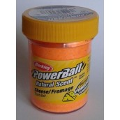 Форелевая паста Berkley Powerbait Natural Scent Trout bait Cheese Fluo Orange