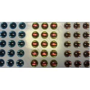 Наклейка голографическая объемная 3D глаза рыбы set 4 мм
