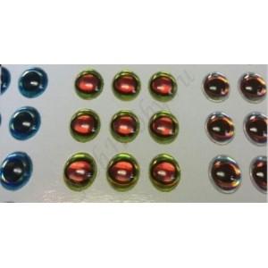 Наклейка голографическая объемная 3D глаза рыбы set 6 мм