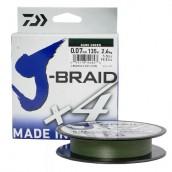 Плетеный шнур Daiwa J-Braid X4 270 м 0,07 мм