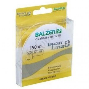 Шнур плетенный Balzer Iron Line 8x yellow 0.14