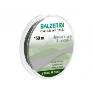 Шнур плетенный  Balzer Iron Line 8x green 0,12