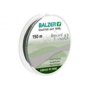 Шнур плетенный  Balzer Iron Line 8x green 0,14