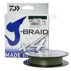 Плетеный шнур Daiwa J-Braid X4 270 м 0,13 мм