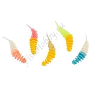 Приманка Balzer Trout Worm Аромат Рыба 5см Mix3