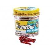 Berkley,  Powerbait Maxi Blood Worm, Искусственный мотыль, 100 шт.