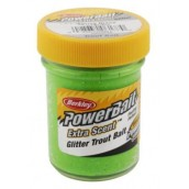 Форелевая паста Berkley Powerbait Extra Scent Glitter Trout Bait, Chartreuse