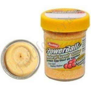 Паста форелевая Berkley Powerbait Natural Scent Glitter Trout Bait Salmon Egg Peach