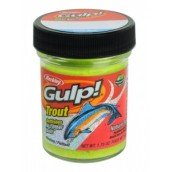 Форелевая паста Berkley Gulp! Trout Bait Natural Garlic Scent, Chunky Chartreuse