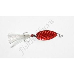 GT-Bio, Блесна колеблющаяся Oblique Stripe ll, 30 мм, 5 гр, Red