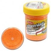 Форелевая паста Berkley Powerbait Natural Scent Glitter Bloodworm, Fluorescent Orange,