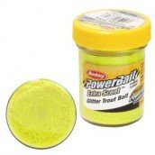 Форелевая паста  Berkley Powerbait Extra Scent Glitter 50gr Sunshine Yellow