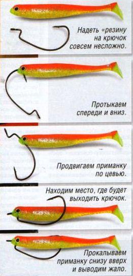 Монтаж офсетного крючка
