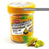 Паста форелевая Berkley Powerbait Natural Scent Glitter Trout Bait Garlic Rainbow