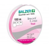 Шнур плетенный  BALZER Iron Line 3Х Trout Pink 0,04 мм 150 м