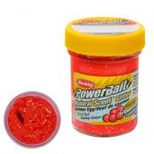 Форелевая паста Berkley, Powerbait Natural  Scent Glitter Trout Bait, Salmon Egg Red