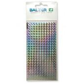 Наклейка голографическая BALZER с чешуей серебро (2шт)